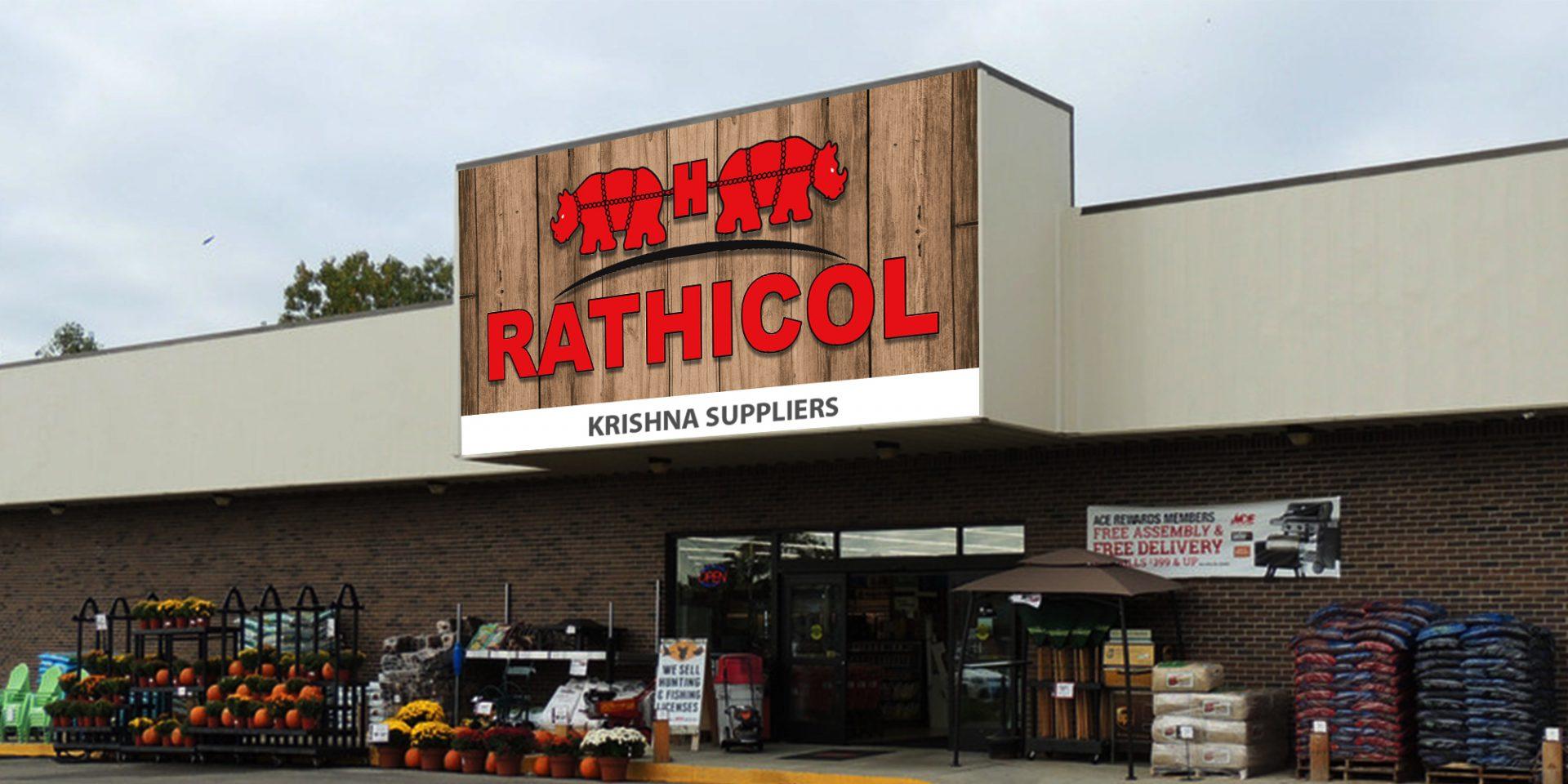 adhesive shop facade