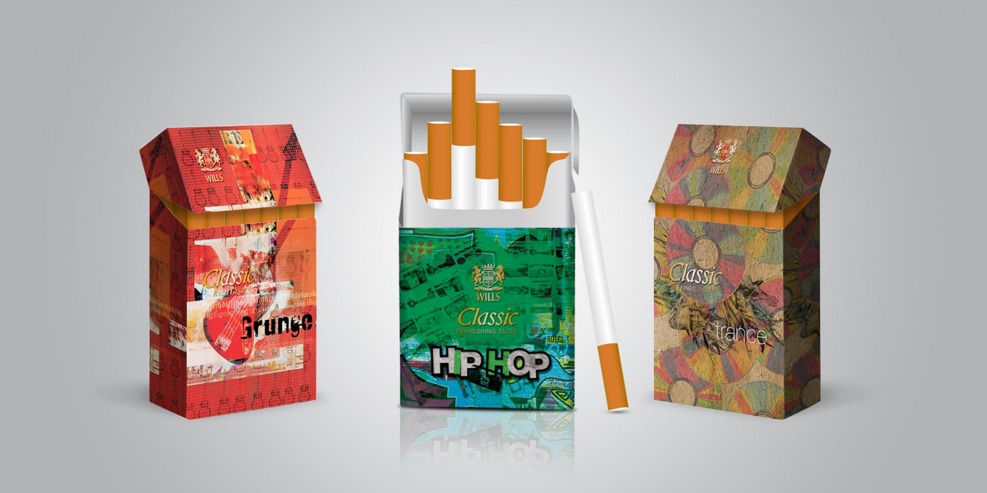 ITC Classic Cigarette Pack Designs