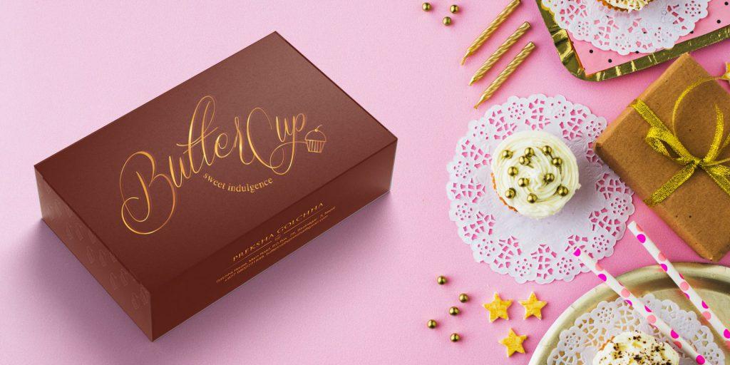 cupcake box packaging design