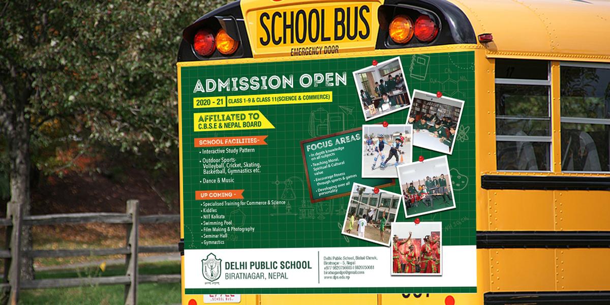 delhi public school bus ad - Delhi Public School