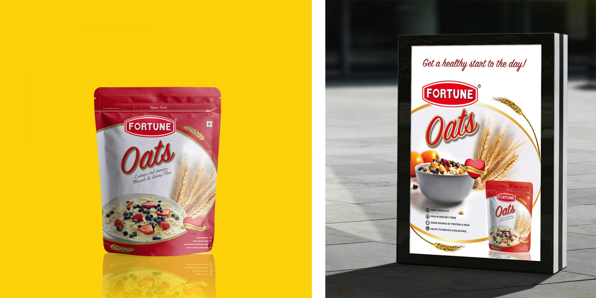 Fortune Oats Packaging/Ads Design