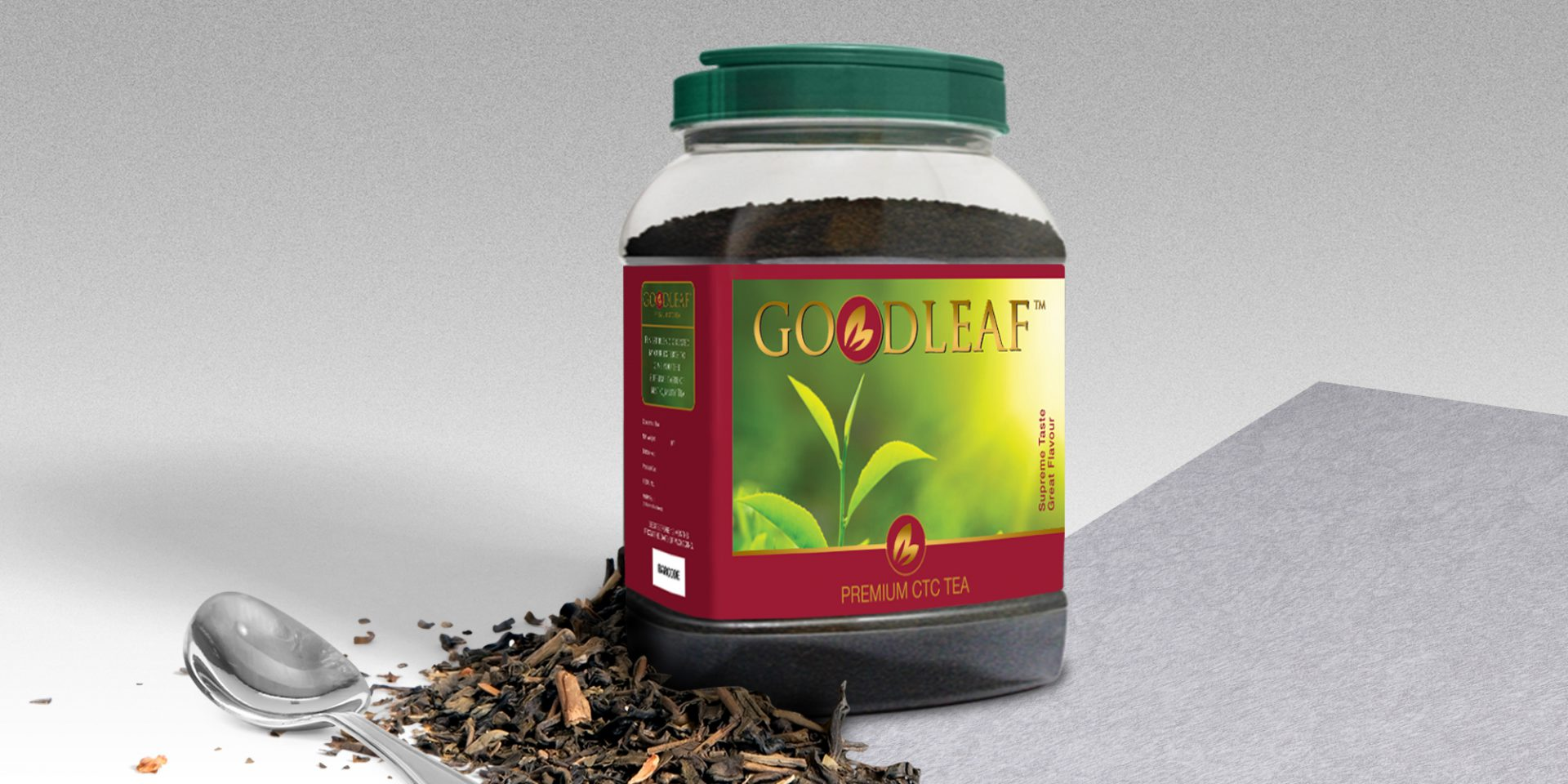 Goodleaf Tea Jar Label Design