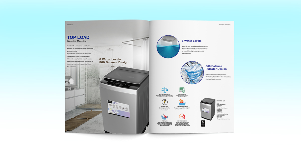 Hyundai Home Appliances Brochure Design