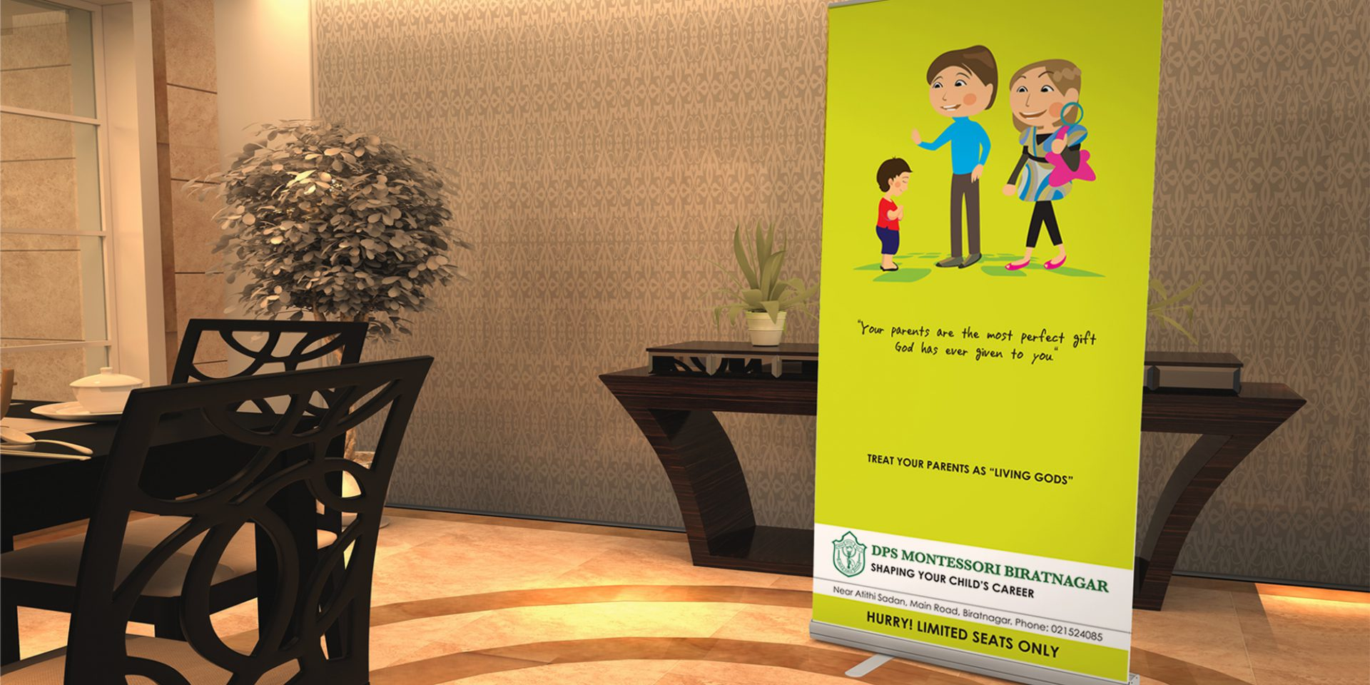 Delhi Public School Montessori Standee Design