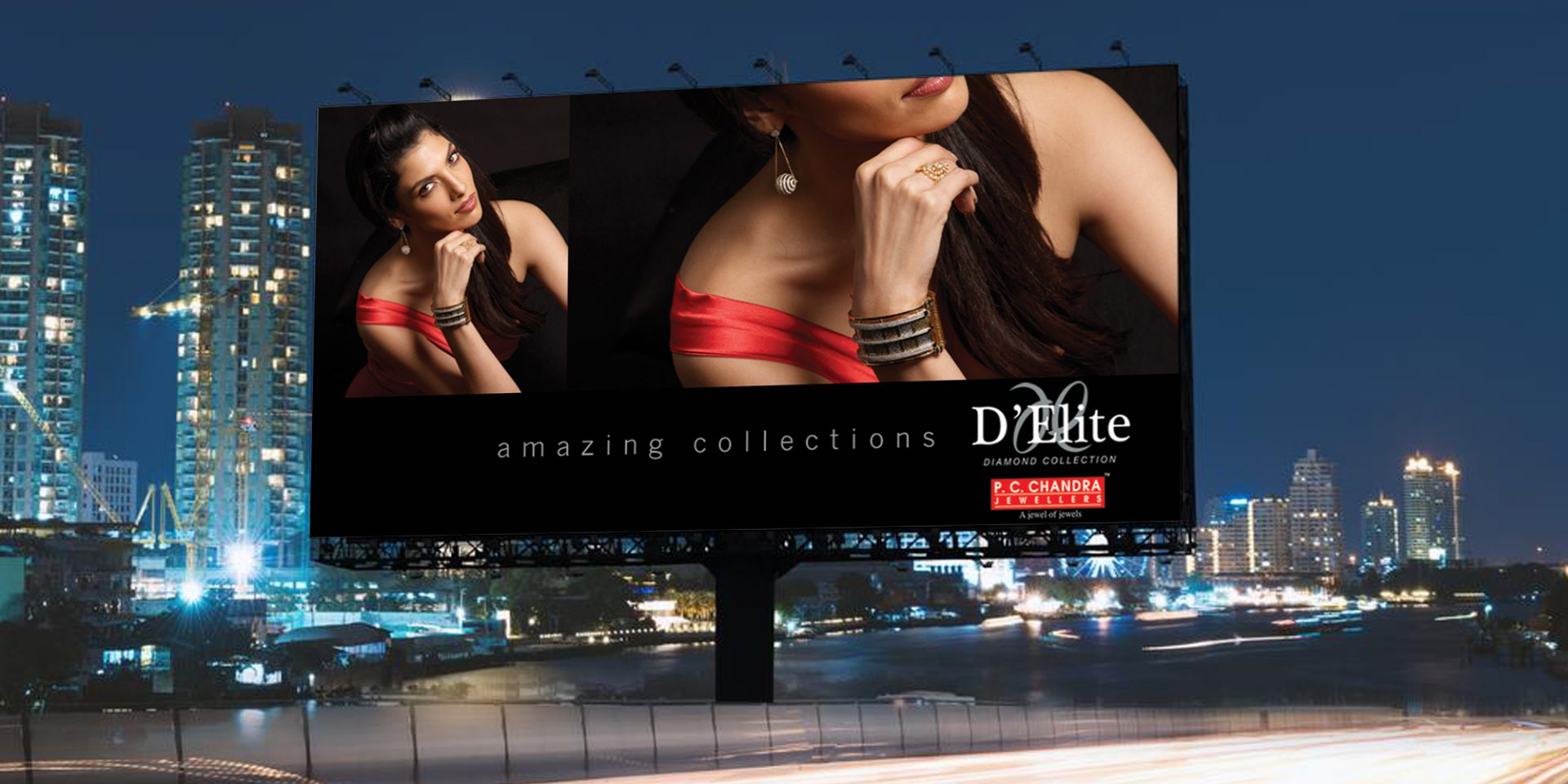 pcc jewellery ad hoarding - P.C. Chandra