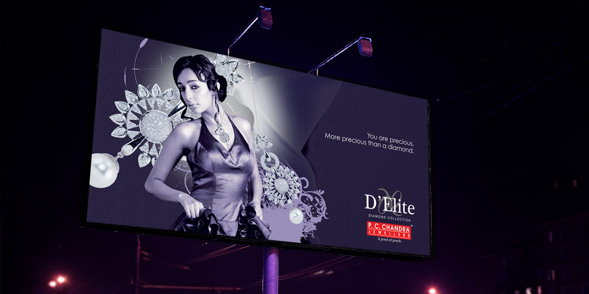 P.C. Chandra Jewellers Hoarding Design