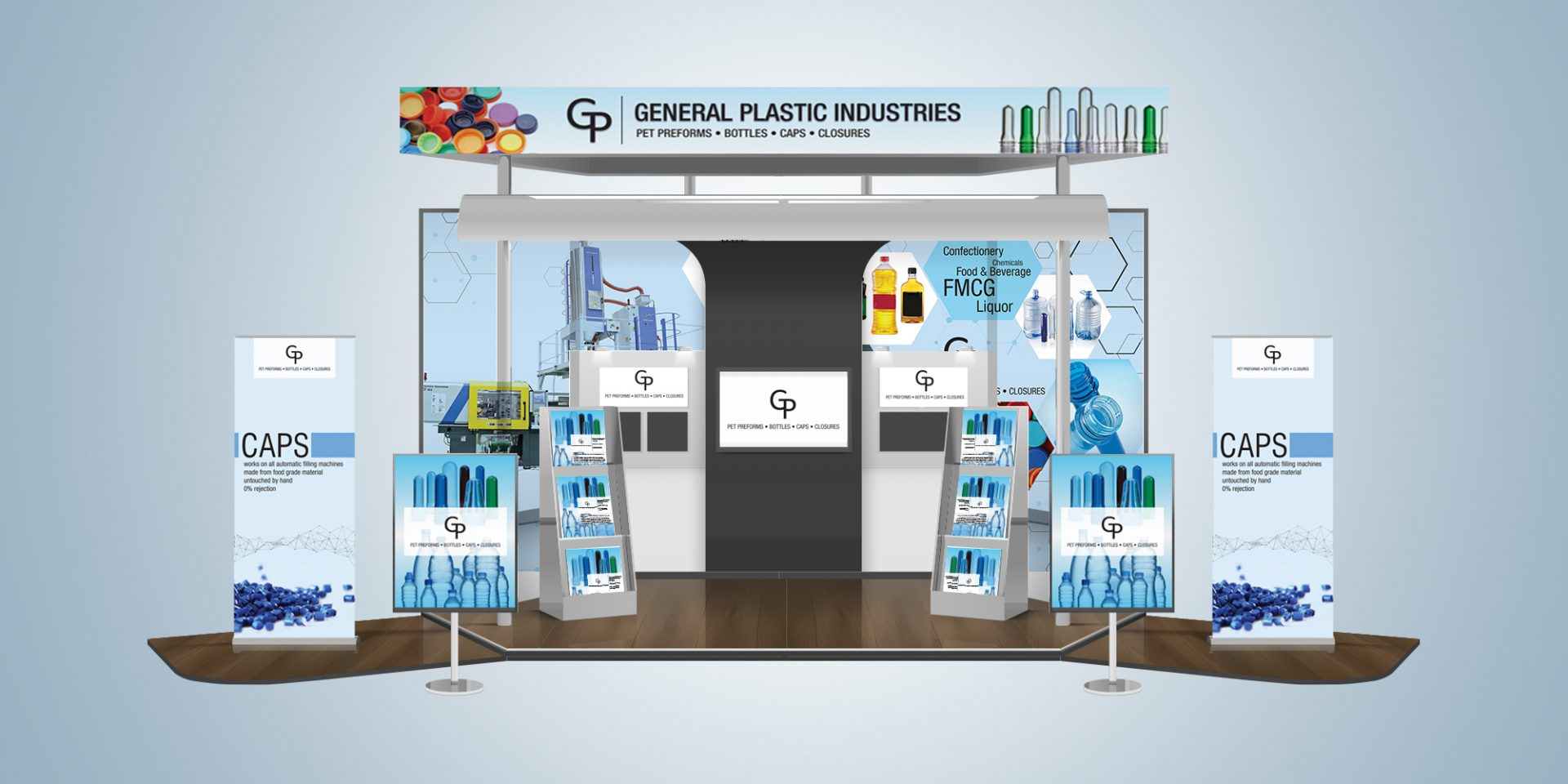 pet preform exhibition stall - General Plastics Industries
