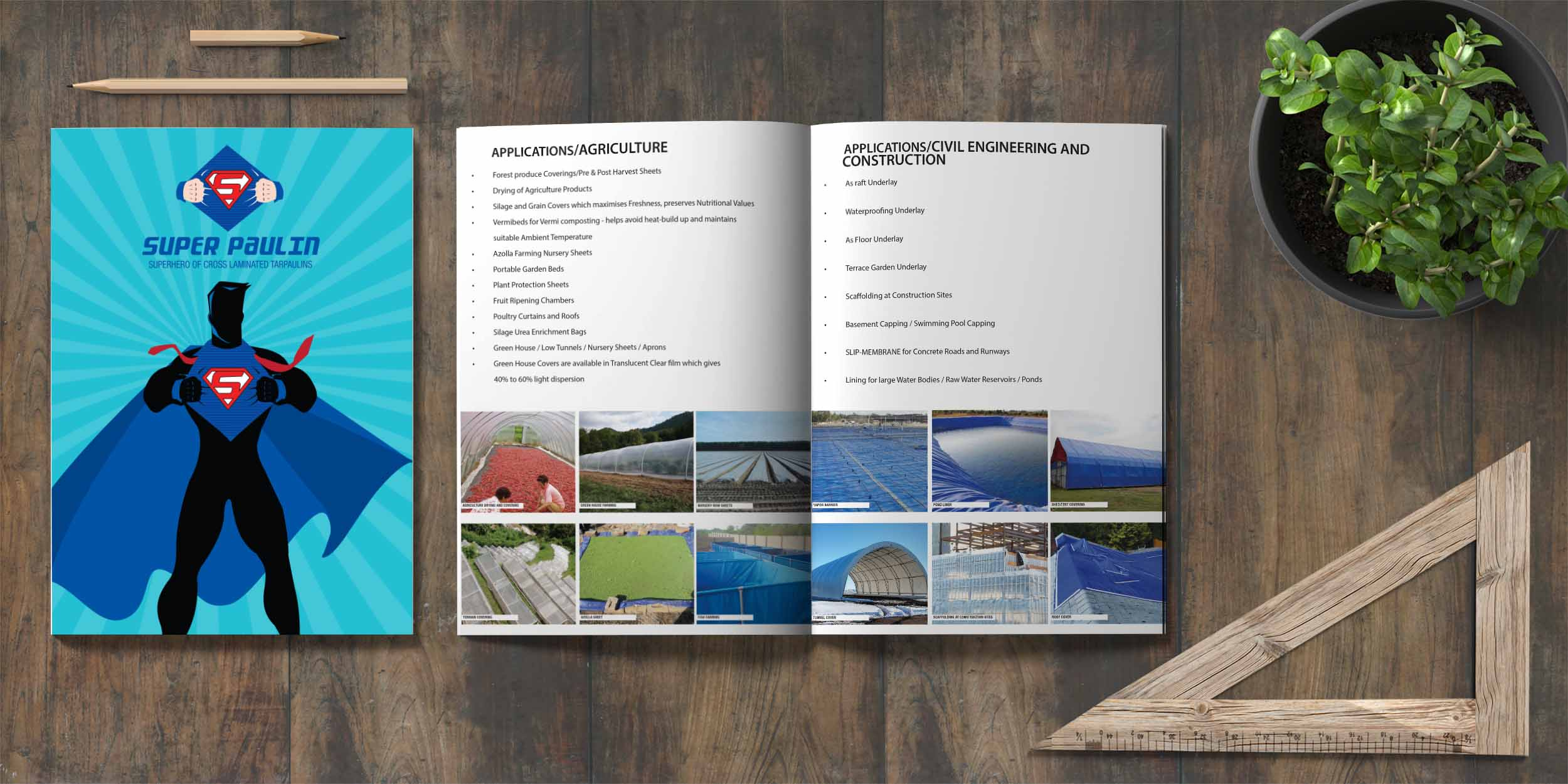 Super Paulin Brochure Design