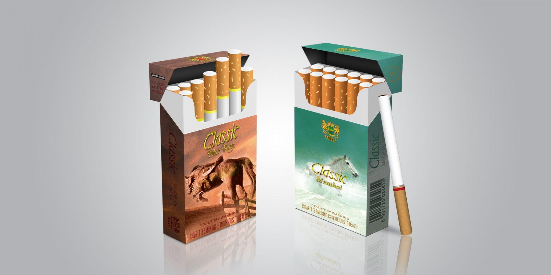 classic cigerette packaging design horse - ITC Classic